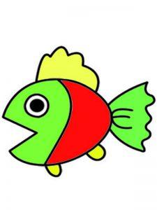 تعلم رسم سمكة للأطفال