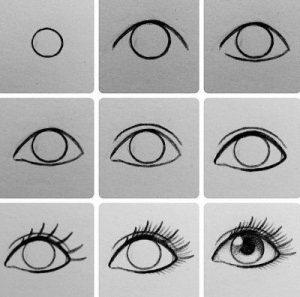 تعلم رسم عيون بخطوات سهلة وبسيطة تعلم الرسم