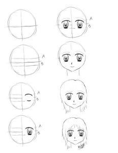 تعلم رسم وجه الانمي وجه الانمي بخطوات سهلة وبسيطة تعلم الرسم