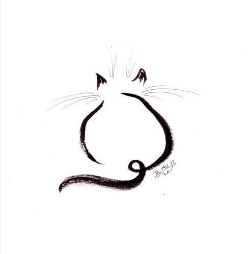خربشة قطة بالرصاص