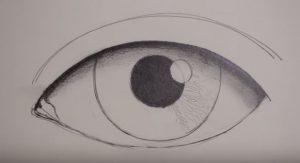 رسمة عين 8
