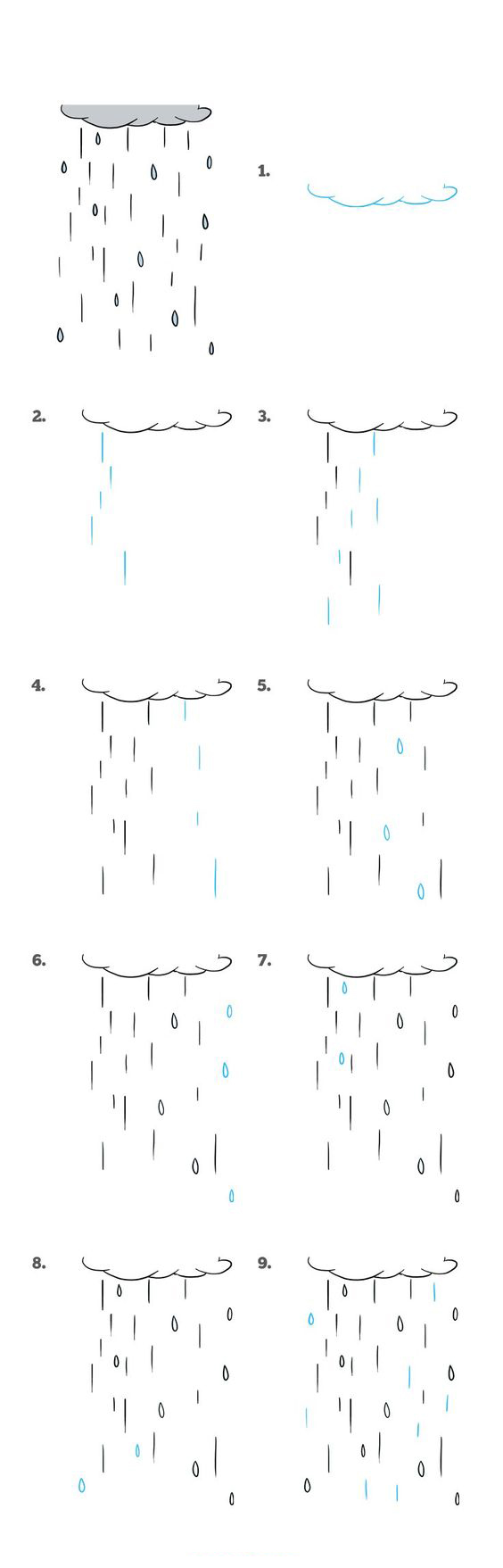 رسم المطر