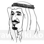 رسم الملك سلمان