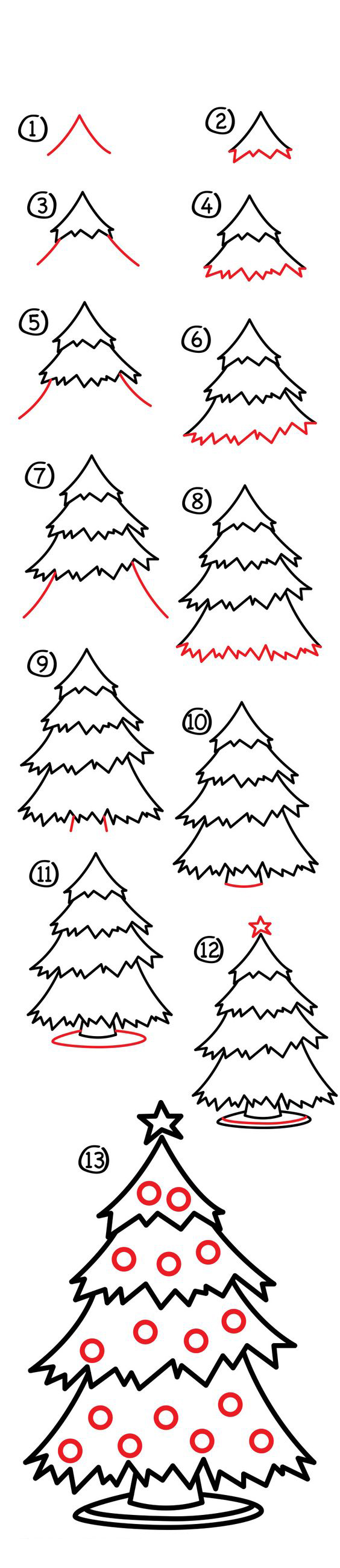 رسم شجرة بابا نويل
