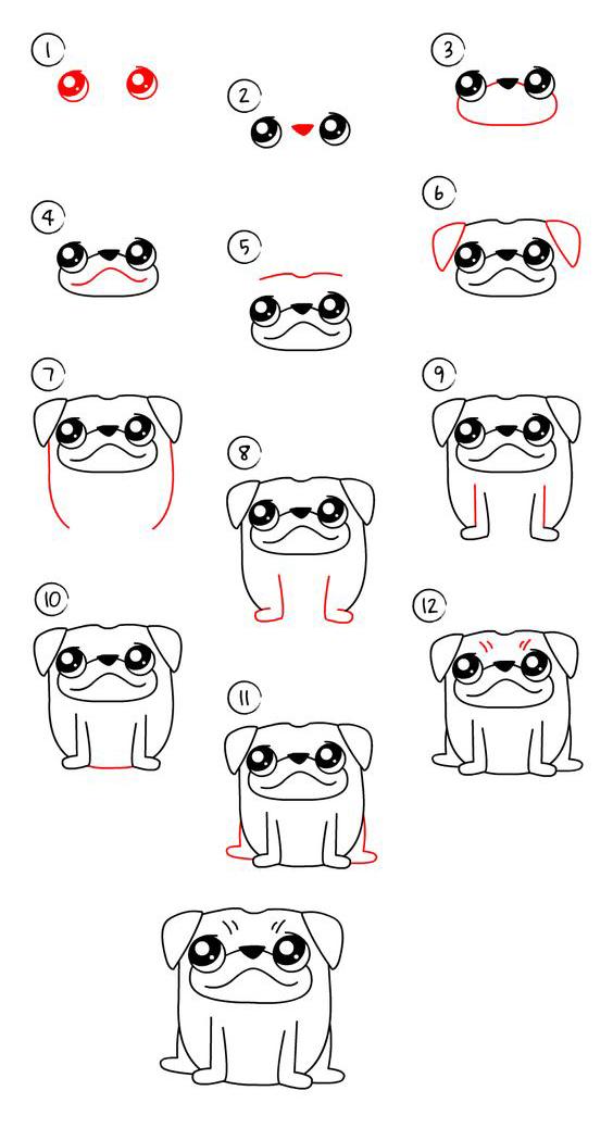 رسم كلب ضخم