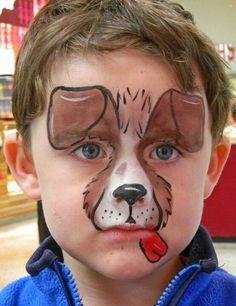 رسم كلب على الوجه