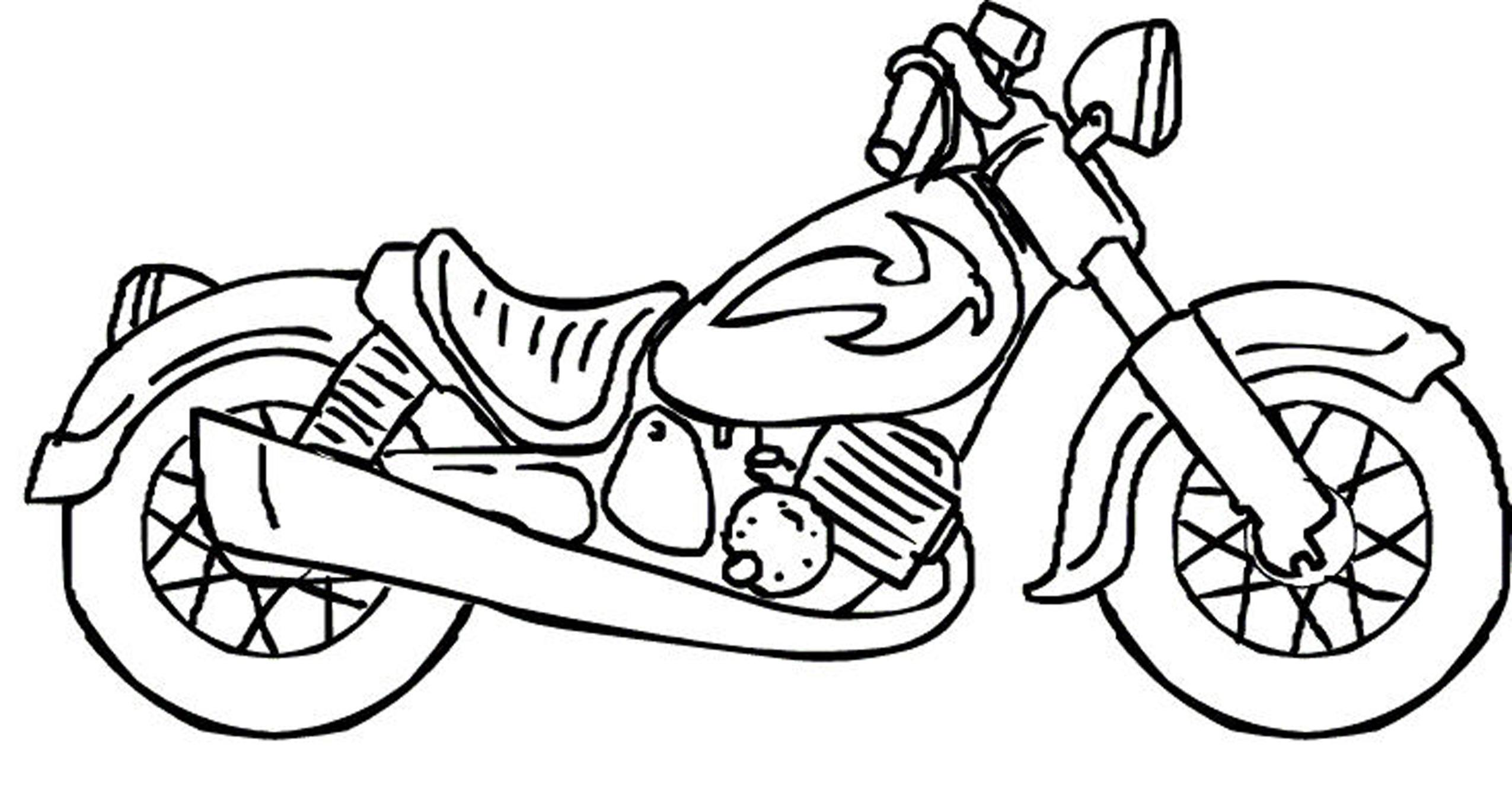 تلوين دراجة للاطفال