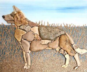 كلب من الأحجار
