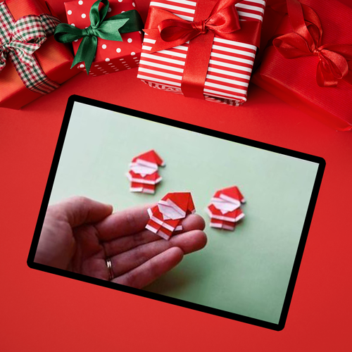 صنع بابا نويل من الورق