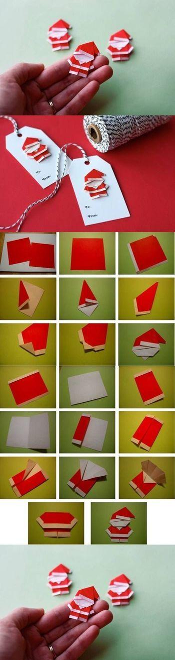 طريقة عمل بابا نويل من ورق