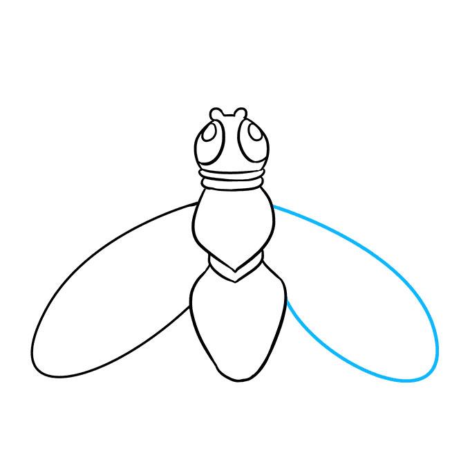 خطوات رسم ذبابه
