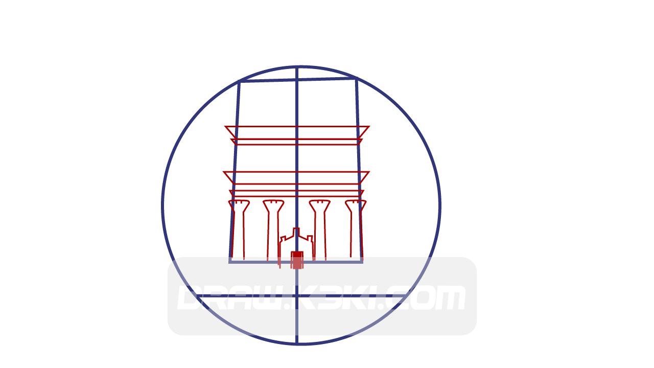 خطوات رسم قصر الفريد
