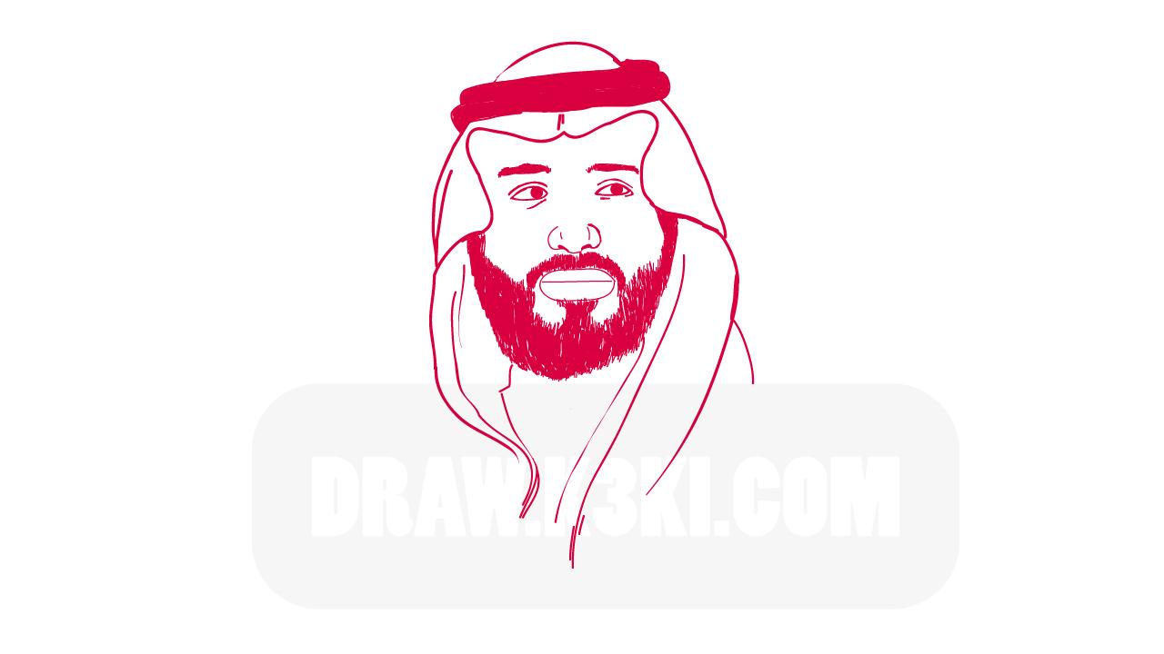 درس رسم محمد بن سلمان