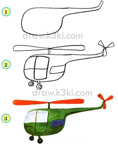 كيفية رسم طائرة مروحية